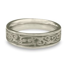 Narrow Continuous Garden Gate Wedding Ring in Stainless Steel