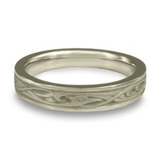 Extra Narrow Papyrus Wedding Ring in Platinum
