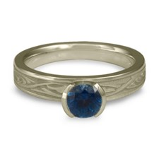 Extra Narrow Papyrus Engagement Ring in Sapphire