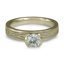 Extra Narrow Papyrus Engagement Ring in Diamond