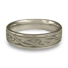 Narrow Papyrus Wedding Ring in 14K White Gold