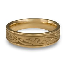 Narrow Papyrus Wedding Ring in 14K Yellow Gold