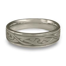 Narrow Papyrus Wedding Ring in Stainless Steel
