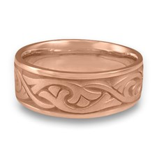 Wide Papyrus Wedding Ring in 14K Rose Gold