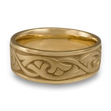 Wide Papyrus Wedding Ring in 14K Yellow Gold