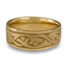 Wide Papyrus Wedding Ring in 18K Yellow Gold