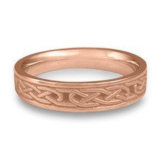 Extra Narrow Love Knot Wedding Ring in 14K Rose Gold