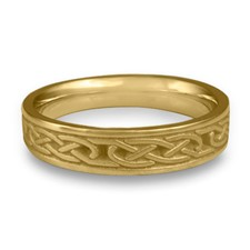Love Knot Wedding Ring in 18K Yellow Gold