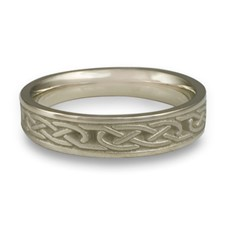 Extra Narrow Love Knot Wedding Ring in Stainless Steel