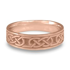 Narrow Love Knot Wedding Ring in 14K Rose Gold