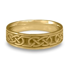 Narrow Love Knot Wedding Ring in 14K Yellow Gold