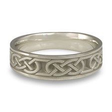 Narrow Love Knot Wedding Ring in Stainless Steel
