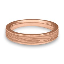 Extra Narrow Yin Yang Wedding Ring in 14K Rose Gold