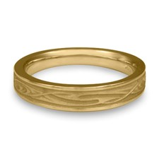 Extra Narrow Yin Yang Wedding Ring in 14K Yellow Gold