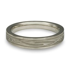Extra Narrow Yin Yang Wedding Ring in Stainless Steel
