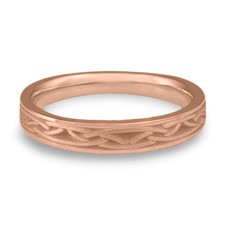 Extra Narrow Celtic Arches Wedding Ring in 14K Rose Gold