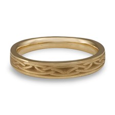 Celtic Arches Wedding Ring in 14K Yellow Gold