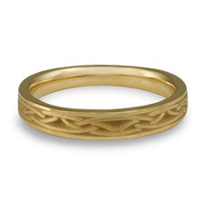 Extra Narrow Celtic Arches Wedding Ring in 18K Yellow Gold
