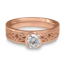 Extra Narrow Celtic Arches Engagement Ring in 14K Rose Gold