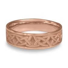 Narrow Celtic Arches Wedding Ring in 14K Rose Gold
