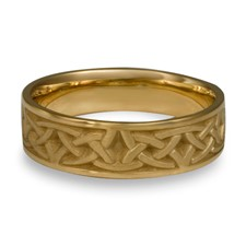 Narrow Celtic Arches Wedding Ring in 14K Yellow Gold