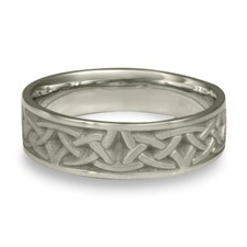 Narrow Self Bordered Celtic Arches Wedding Ring in Platinum