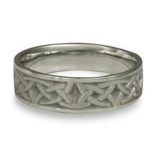Narrow Self Bordered Celtic Arches Wedding Ring in Stainless Steel