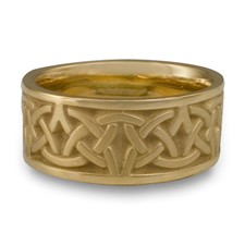 Wide Celtic Arches Wedding Ring in 14K Yellow Gold