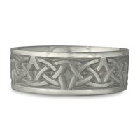 Wide Celtic Arches Wedding Ring in Stainless Steel