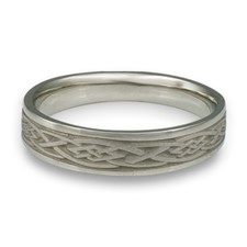 Narrow Celtic Diamond Wedding Ring in Stainless Steel