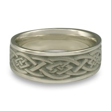Wide Celtic Diamond Wedding Ring in Stainless Steel