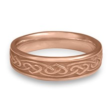 Narrow Heartstrings Wedding Ring in 14K Rose Gold
