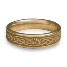 Narrow Heartstrings Wedding Ring in 14K Yellow Gold