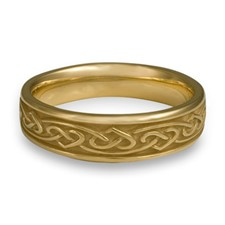 Narrow Heartstrings Wedding Ring in 18K Yellow Gold