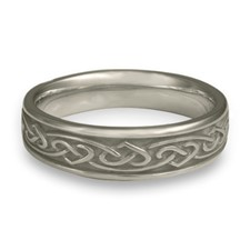 Narrow Heartstrings Wedding Ring in Platinum