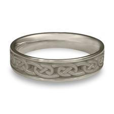 Narrow Cheek to Cheek Wedding Ring in Stainless Steel