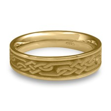 Narrow Lattice Wedding Ring in 14K Yellow Gold