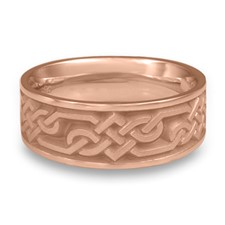 Wide Lattice Wedding Ring in 14K Rose Gold
