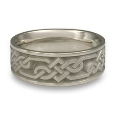 Wide Lattice Wedding Ring in Stainless Steel
