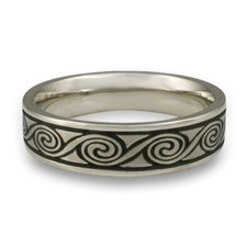 Narrow Rolling Moon Wedding Ring in Stainless Steel