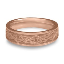 Narrow Monarch Wedding Ring in 14K Rose Gold