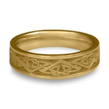 Narrow Monarch Wedding Ring in 14K Yellow Gold