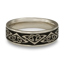 Wide Monarch Wedding Ring in Stainless Steel