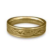 Narrow Sonoma Hills Wedding Ring in 14K Yellow Gold