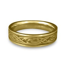 Narrow Sonoma Hills Wedding Ring in 18K Yellow Gold