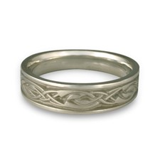 Narrow Sonoma Hills Wedding Ring in Stainless Steel