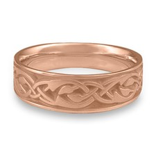Wide Sonoma Hills Wedding Ring in 14K Rose Gold