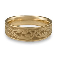 Wide Sonoma Hills Wedding Ring in 14K Yellow Gold