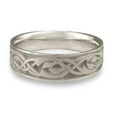 Wide Sonoma Hills Wedding Ring in Platinum
