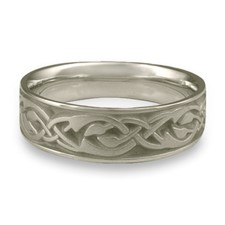 Wide Sonoma Hills Wedding Ring in Stainless Steel